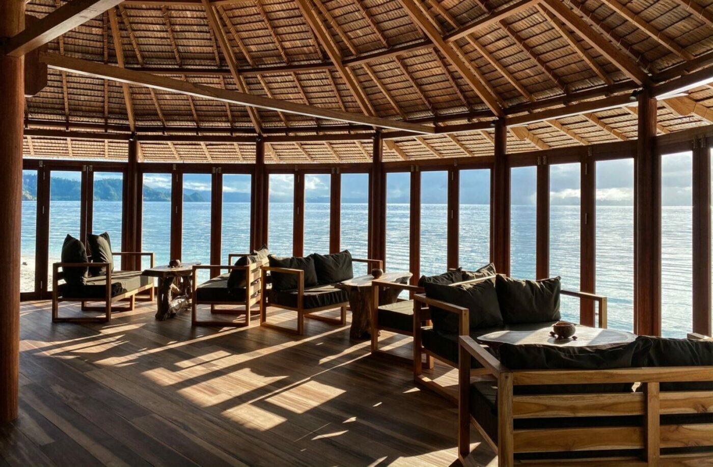 Kusu Island Resort - Restaurant with sea view